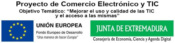 logo FEDER Proyecto Comercio TIC 2019