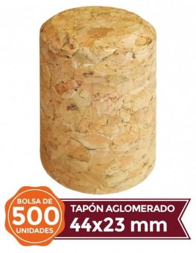 Tapones de Corcho Aglomerado - Tapón Corcho Aglomerado 44x23 500u - EuroTapón Nuñez