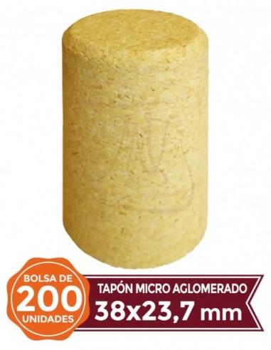 Microagglomerated Cork Stopper 38x23,7 200u