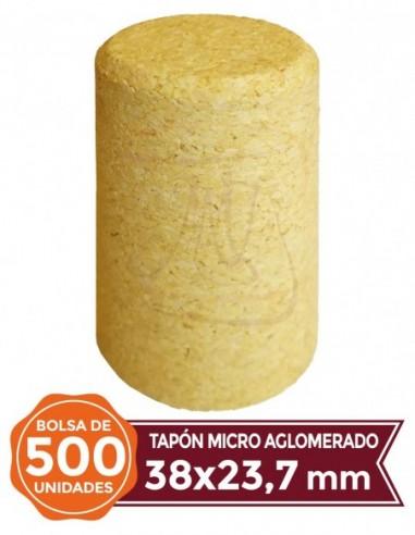 Microagglomerated Cork Stopper 38x23,7 500u